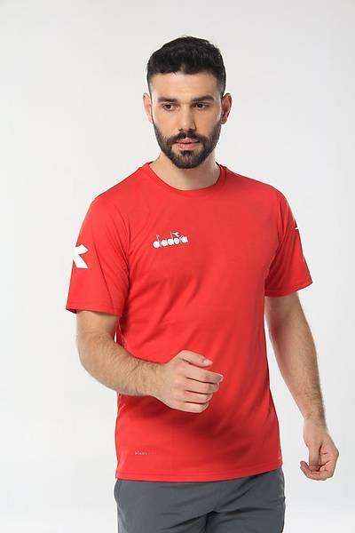 Diadora Nacce Antrenman T-Shirt Kýrmýzý