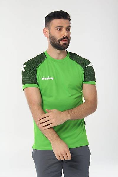 Diadora Mundial Antrenman T-Shirt Yeþil