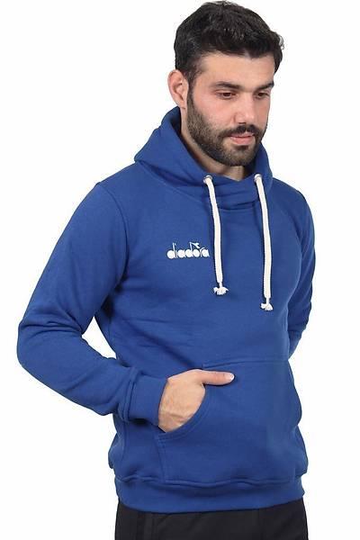 Diadora Harle Kanguru Cepli Sweatshirt Mavi