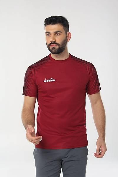 Diadora Ritim Antrenman T-Shirt Bordo