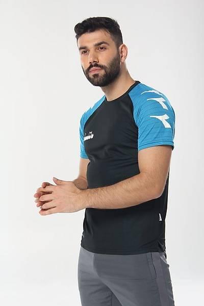 Diadora Mundial Antrenman T-Shirt Lacivert - Turkuaz