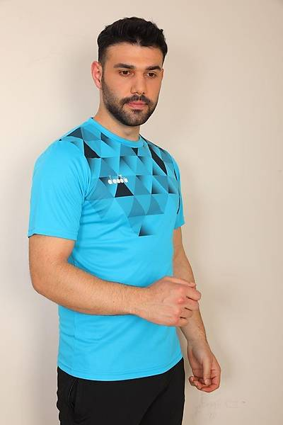 Diadora Alone Antrenman T-Shirt Turkuaz