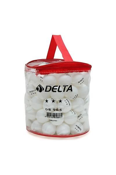 Delta 100'lü Çantalý Masa Tenisi Topu Beyaz