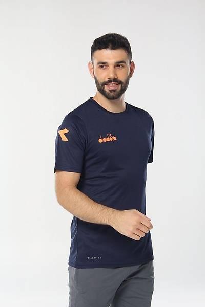 Diadora Nacce Antrenman T-Shirt Lacivert