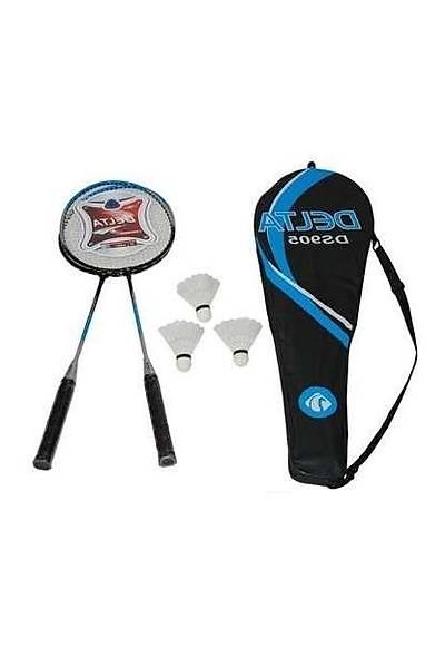 Delta DS 905 Çantalý Badminton Seti Beyaz - Mavi