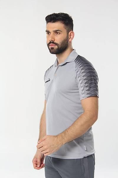 Diadora Ritim Kamp Polo T-Shirt Gri