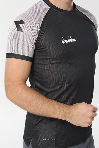 Diadora Mundial Antrenman T-Shirt Siyah - Gri