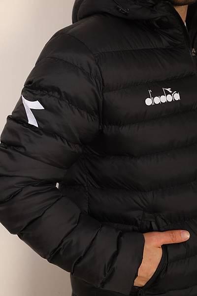 Diadora Roy Anorak Uzun Mont Siyah