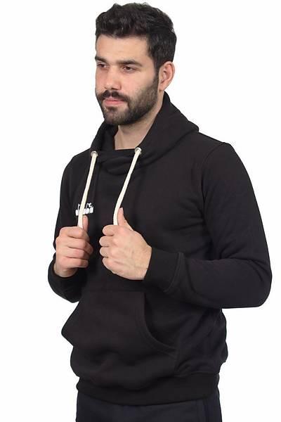 Diadora Harle Kanguru Cepli Sweatshirt Siyah