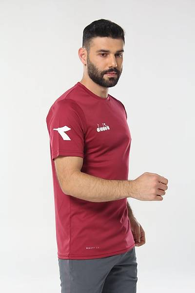Diadora Nacce Antrenman T-Shirt Bordo