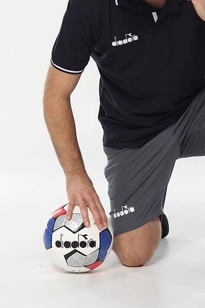 Diadora Nenta Hybrid Futbol Topu Mavi - Kýrmýzý No 5