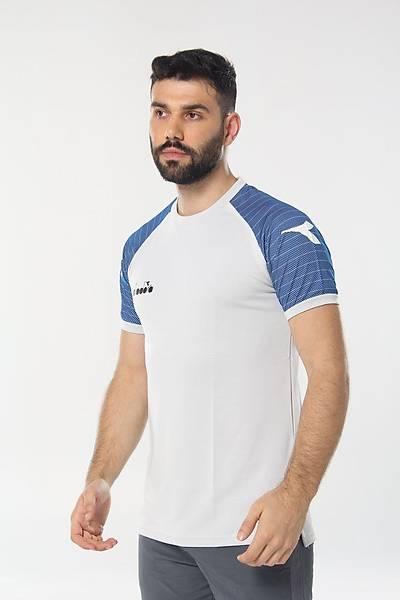 Diadora Mundial Antrenman T-Shirt Beyaz - Mavi