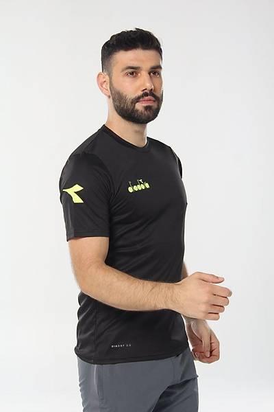 Diadora Nacce Antrenman T-Shirt Siyah