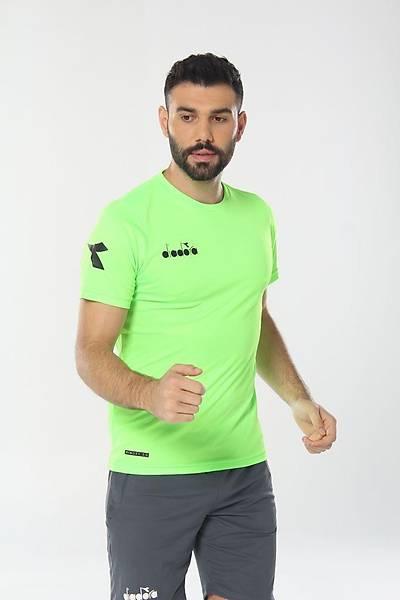 Diadora Nacce Antrenman T-Shirt Fýstýk Yeþili