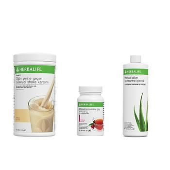 Herbalife Baþlangýç Seti - Shake + Çay + Aloe