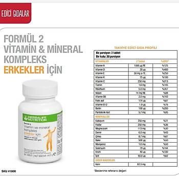 Herbalife Formül 2 Vitamin ve Mineral Erkekler Ýçin