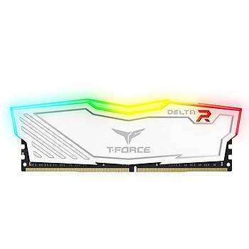 16 GB DDR4 3200 Mhz T-FORCE DELTA RGB WHITE 16GBx1  TF4D416G3200HC16F01