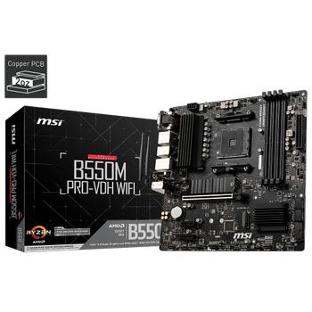 MSI B550M PRO-VDH WIFI DDR4 4400(OC) HDMI MATX AM4