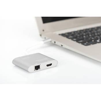 DIGITUS DA-70847 USB3.0 ETHERNET HDMI ADAPT TYPE C