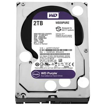 2TB WD Purple SATA 6Gb/s 64MB DV 7x24 WD20PURZ