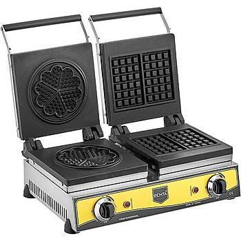 Remta Çiftli Kare + Çiçek Model (21 çap) Waffle Makinasý Elektrikli