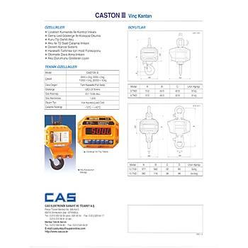 Cas Caston 3 BT 5 Ton El Terminalli Vinç Baskülü