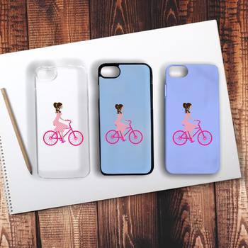 Pembe Bisikletli Kýz Telefon Kýlýfý Iphone 6s Plus