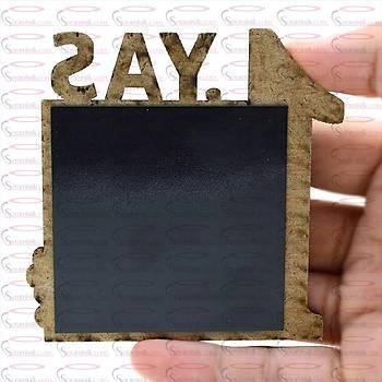 1 Yaþ Mavi Magnet Çerçeve