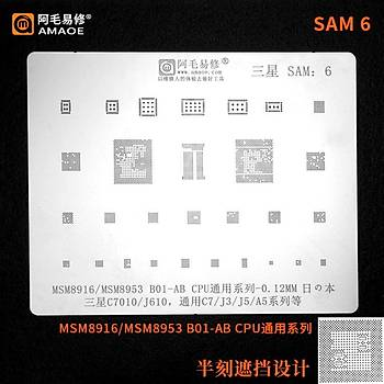 Amaoe SAM 6 / MSM8916 / MSM8953 B01-AB CPU / C7010 / J610 / C7 / J3 / J5 / A5