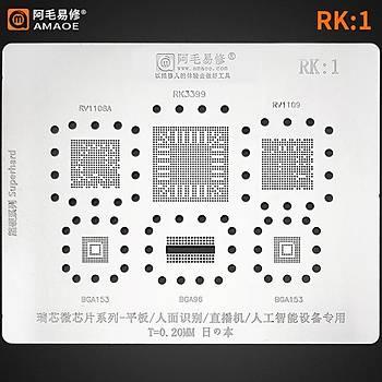 Amaoe RK 1 / RV1108A / RK3399 / RV1109 / BGA153 / BGA96 /