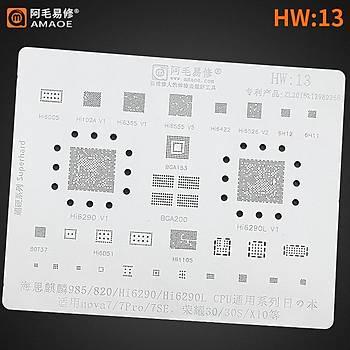 Amaoe HW 13 / 985 / 820 / Hi6290 / Hi6290L CPU / Nova7 / 7Pro / 7SE / 30 / 30S / X10