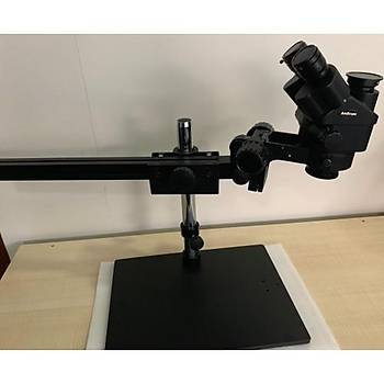AmScope SM745NTP 7x-45x Simul-Focal Trinocular Zoom Stereo Mikroskop Kafa + Montaj Sehpasý