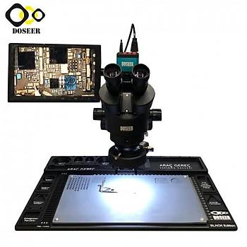 Doseer / ERT Standlý Stereo Siyah Mikroskop