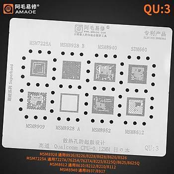Amaoe Qualcomm QU 3 / MSM7225A / MSM8928 B / MSM8940 / SDM660 / MSM8909 / MSM8928 A / MSM8952 / MSM8612