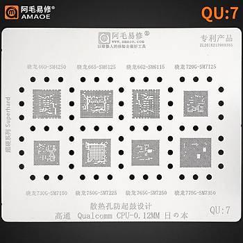 Amaoe Qualcomm QU 7 / 460-SM4250 / 665- SM6125 / 662-SM6115 / 720G-SM7125 / 730G-SM7150 / 750G-SM7225 / 765G-SM7250 / 775G-SM7350