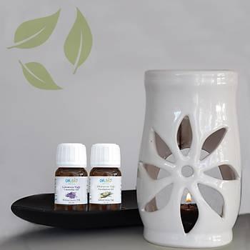 Aromaterapi Beyaz Buhurdanlýk Seti 2'li