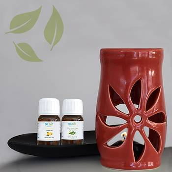 Aromaterapi Kýrmýzý Buhurdanlýk Seti 2'li