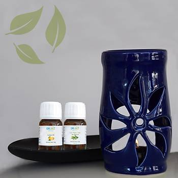 Aromaterapi Mavi Buhurdanlýk Seti 2'li