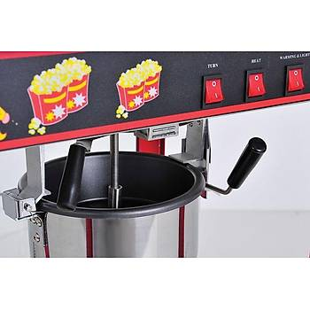 By Kitchen Mýsýr Patlatma Makinesi, Kýrmýzý Popcorn Makinesi DPM-S