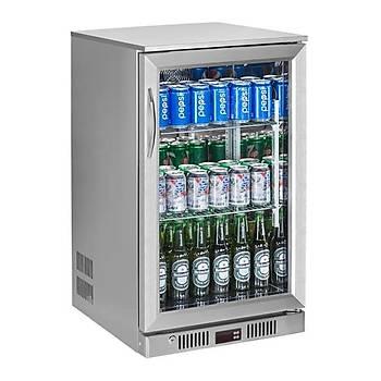 GTech SC-118F-S Bar Arkasý Þiþe Soðutucu Dolap, Tek Kapýlý, Paslanmaz Çelik Kasa, 118 L