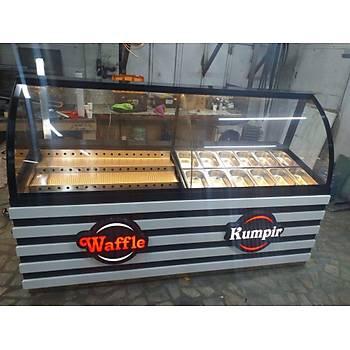 Waffle Kumpir ve Pasta Dolabý Set