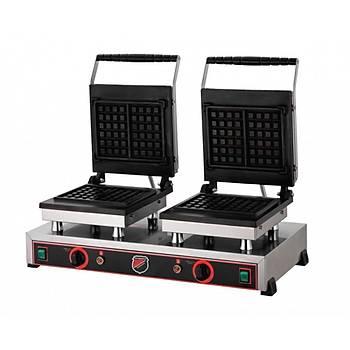Çiftli Kare Waffle Makinesi