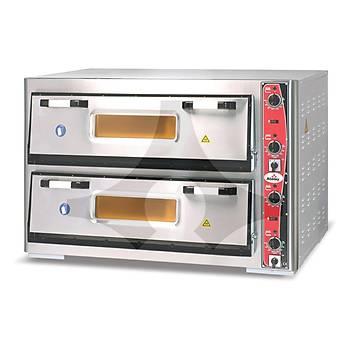 Atalay APF-962-2 Elektrikli Çift Katlý Pizza Fýrýný 12x30 cm Pizza Kapasiteli 92x62