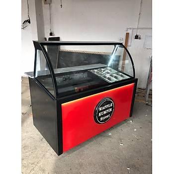 Waffle ve Kumpir Dolabý Red Model