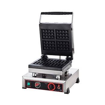 Dörtlü Kare Waffle Makinesi
