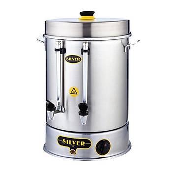 Metal Basmalý Musluk Çay Makinesi 80 Bardak 9 Litre Kapasiteli