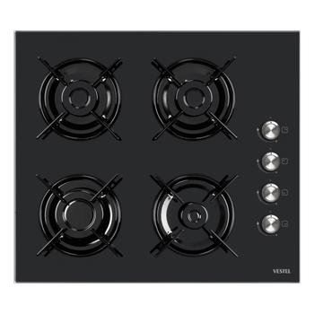 Vestel AO-6104 S Siyah Cam Ankastre Ocak