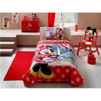 Taç  Lisanslý Yatak Örtüsü Seti Disney Minnie