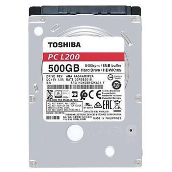 Toshiba 2.5 500GB L200 8MB 5400RPM HDWK105UZSVA