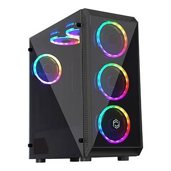 Frisby FC-8890G Coax 650W 80+ Mid Tower RGB Kasa